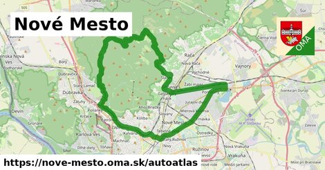 ikona Mapa autoatlas  nove-mesto