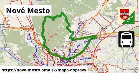 ikona Nové Mesto: 461km trás mapa-dopravy  nove-mesto