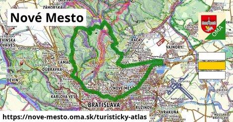 ikona Nové Mesto: 61km trás turisticky-atlas  nove-mesto