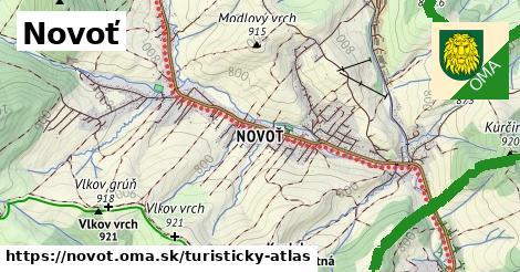 ikona Turistická mapa turisticky-atlas  novot