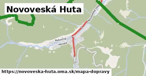 ikona Novoveská Huta: 44km trás mapa-dopravy  novoveska-huta