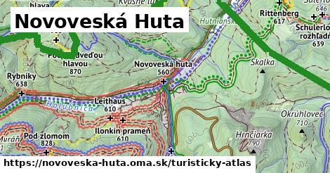 ikona Novoveská Huta: 66km trás turisticky-atlas  novoveska-huta
