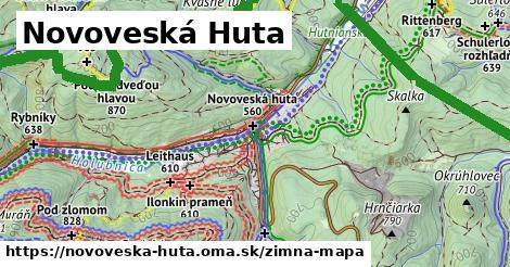 ikona Novoveská Huta: 156m trás zimna-mapa  novoveska-huta