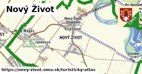 ikona Nový Život: 8,1km trás turisticky-atlas  novy-zivot