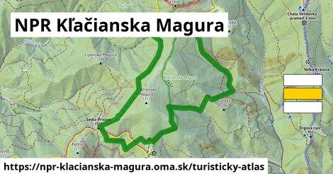 ikona Turistická mapa turisticky-atlas  npr-klacianska-magura