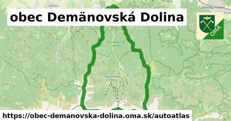 ikona Mapa autoatlas  obec-demanovska-dolina
