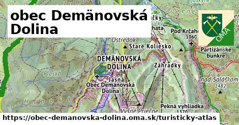 ikona obec Demänovská Dolina: 69km trás turisticky-atlas  obec-demanovska-dolina
