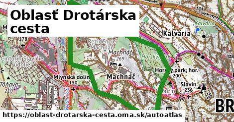 ikona Mapa autoatlas  oblast-drotarska-cesta