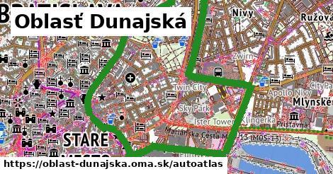 ikona Mapa autoatlas  oblast-dunajska