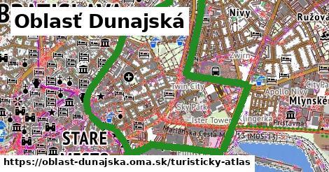 ikona Turistická mapa turisticky-atlas v oblast-dunajska