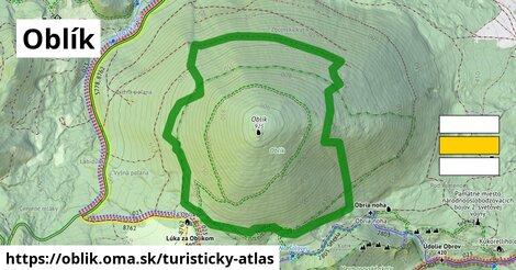 ikona Turistická mapa turisticky-atlas  oblik