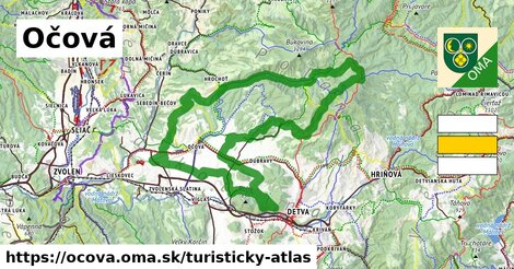 ikona Turistická mapa turisticky-atlas  ocova