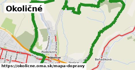 ikona Okoličné: 12,9km trás mapa-dopravy  okolicne