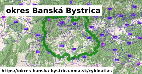 ikona okres Banská Bystrica: 424km trás cykloatlas  okres-banska-bystrica