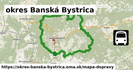 ikona okres Banská Bystrica: 390km trás mapa-dopravy  okres-banska-bystrica