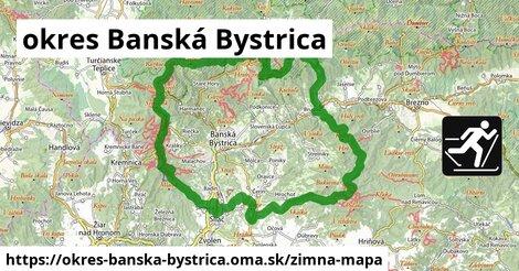 ikona okres Banská Bystrica: 168km trás zimna-mapa  okres-banska-bystrica