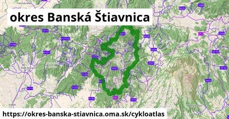 ikona okres Banská Štiavnica: 184km trás cykloatlas  okres-banska-stiavnica