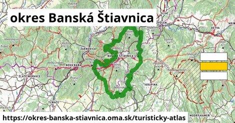 ikona okres Banská Štiavnica: 195km trás turisticky-atlas  okres-banska-stiavnica