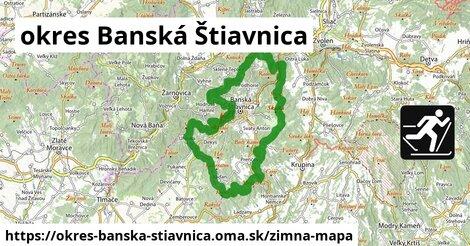 ikona okres Banská Štiavnica: 16km trás zimna-mapa  okres-banska-stiavnica