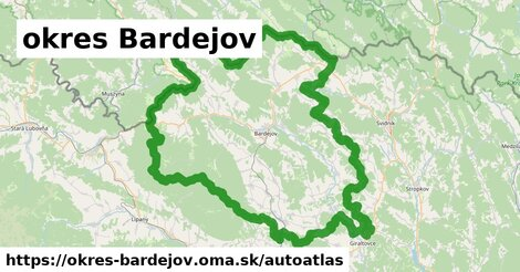 ikona Mapa autoatlas  okres-bardejov