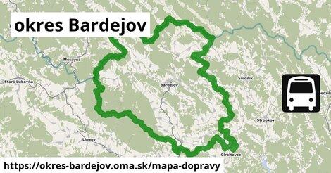 ikona Mapa dopravy mapa-dopravy  okres-bardejov