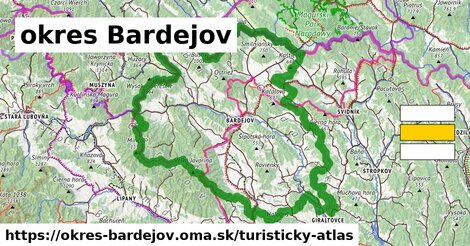 ikona Turistická mapa turisticky-atlas  okres-bardejov