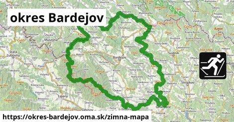 ikona okres Bardejov: 31km trás zimna-mapa  okres-bardejov