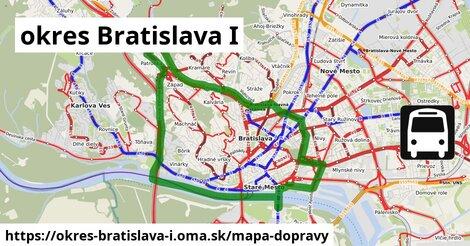 ikona okres Bratislava I: 605km trás mapa-dopravy  okres-bratislava-i