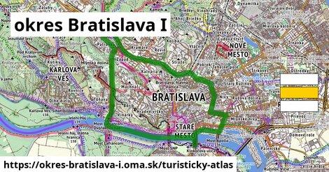 ikona okres Bratislava I: 14,3km trás turisticky-atlas  okres-bratislava-i