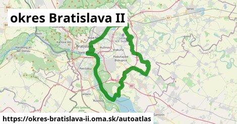 ikona Mapa autoatlas  okres-bratislava-ii
