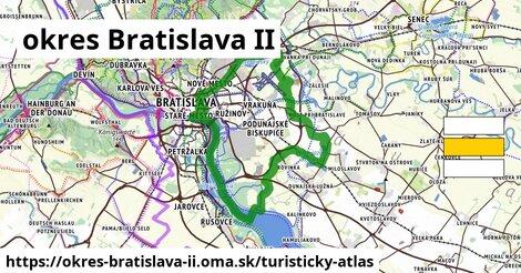 ikona okres Bratislava II: 2,5km trás turisticky-atlas  okres-bratislava-ii