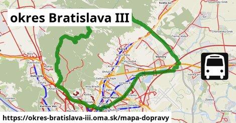 ikona okres Bratislava III: 990km trás mapa-dopravy  okres-bratislava-iii
