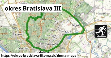 ikona okres Bratislava III: 24km trás zimna-mapa  okres-bratislava-iii