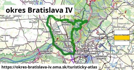 ikona okres Bratislava IV: 79km trás turisticky-atlas  okres-bratislava-iv