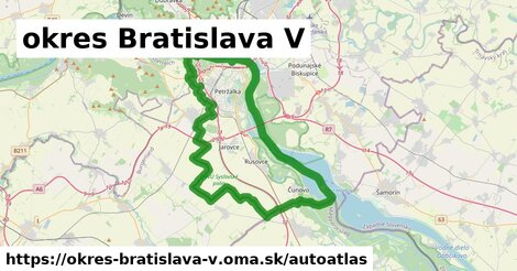 ikona Mapa autoatlas  okres-bratislava-v