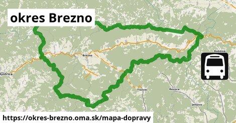ikona okres Brezno: 98km trás mapa-dopravy  okres-brezno