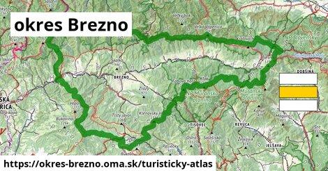 ikona okres Brezno: 735km trás turisticky-atlas  okres-brezno