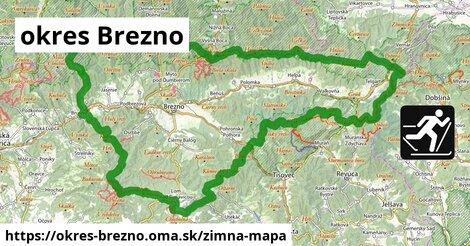 ikona okres Brezno: 74km trás zimna-mapa  okres-brezno