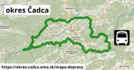 ikona okres Čadca: 50km trás mapa-dopravy  okres-cadca