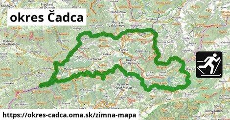ikona okres Čadca: 198km trás zimna-mapa  okres-cadca