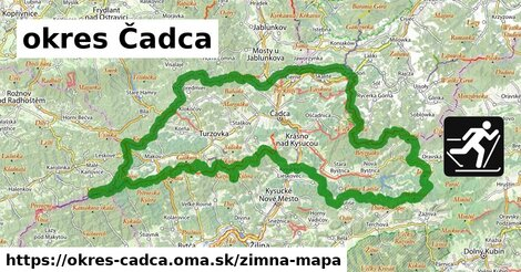 ikona Zimná mapa zimna-mapa  okres-cadca