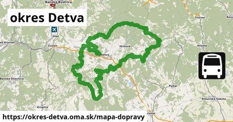 ikona Mapa dopravy mapa-dopravy  okres-detva
