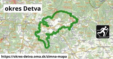 ikona okres Detva: 45km trás zimna-mapa  okres-detva