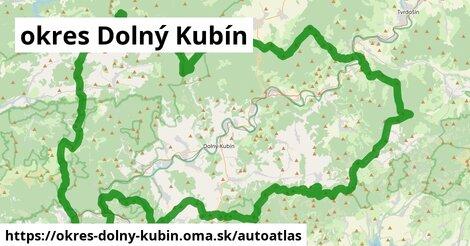 ikona Mapa autoatlas  okres-dolny-kubin