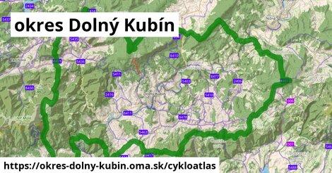 ikona okres Dolný Kubín: 261km trás cykloatlas  okres-dolny-kubin