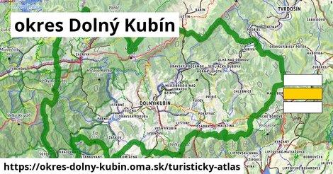 ikona okres Dolný Kubín: 242km trás turisticky-atlas  okres-dolny-kubin