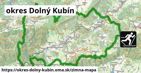 ikona okres Dolný Kubín: 22km trás zimna-mapa  okres-dolny-kubin