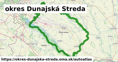 ikona Mapa autoatlas  okres-dunajska-streda