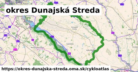 ikona okres Dunajská Streda: 263km trás cykloatlas  okres-dunajska-streda