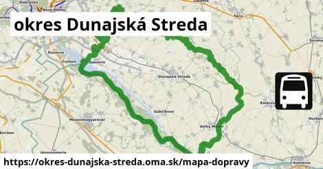 ikona okres Dunajská Streda: 213km trás mapa-dopravy  okres-dunajska-streda